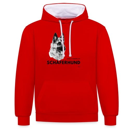 Home is where my Schäferhund is ! - Kontrast-Hoodie