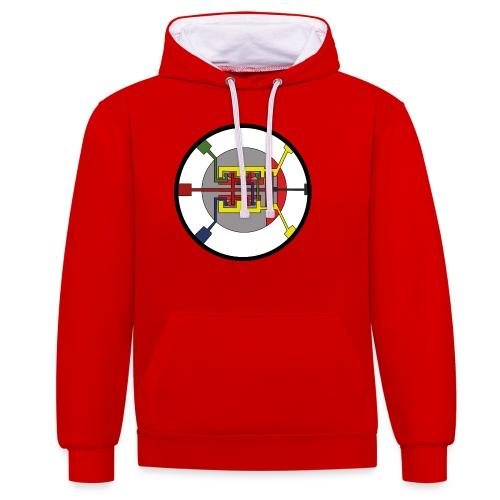 JackJohannes Hemp's Oscillator - Contrast hoodie