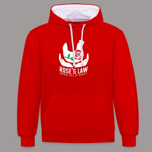Roses Law Animal Bill of Rights Belgium - Contrast hoodie