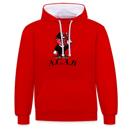 A.C.A.B cochon - Sweat-shirt contraste