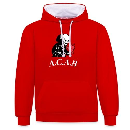 A.C.A.B la mort - Sweat-shirt contraste