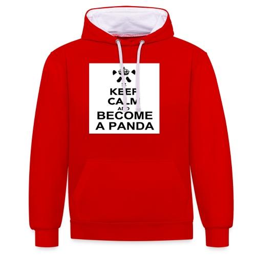 Vær En Panda - Kontrast-hættetrøje
