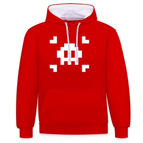 Pixel Skull - Sweat-shirt contraste
