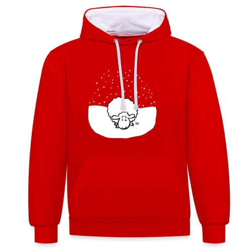 Snowy Sheep - Contrast Colour Hoodie