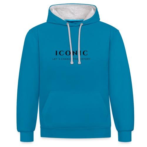 ICONIC - Sudadera con capucha en contraste