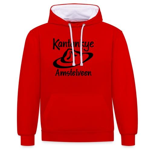 logo naam hoed amstelveen - Contrast hoodie