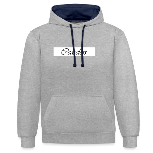 White - Contrast Colour Hoodie