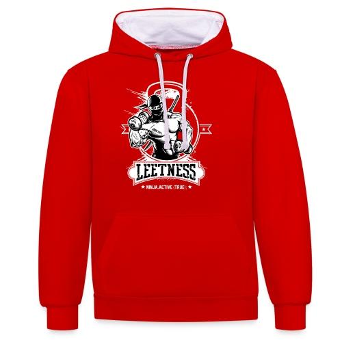 Leetness - Men's sports shirt - Contrast Colour Hoodie