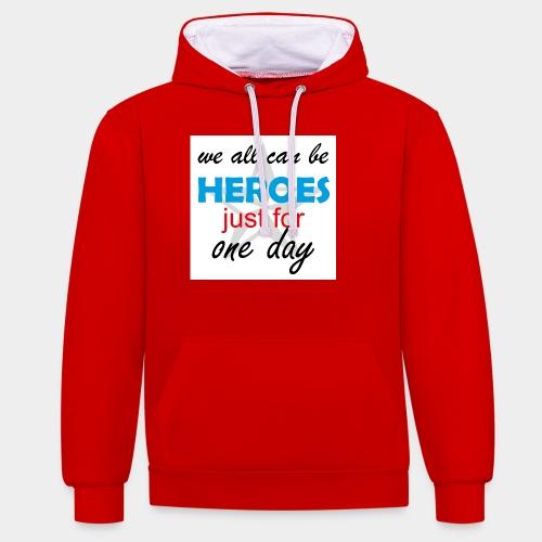 GHB Jeder kann ein Held sein 190320183w - Kontrast-Hoodie