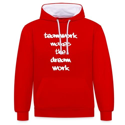 Teamwork - Contrast hoodie