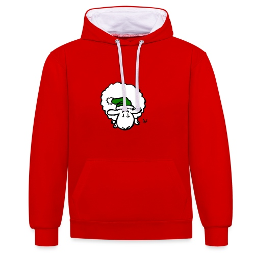 Santa Sheep (green) - Sweat-shirt contraste