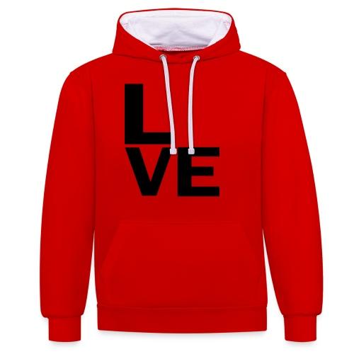 Love - Kontrast-Hoodie