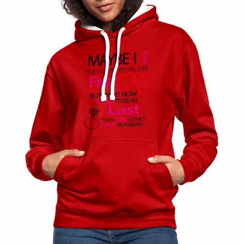 Ich liebe meinen Mann - Geschenkidee - Contrast Colour Hoodie