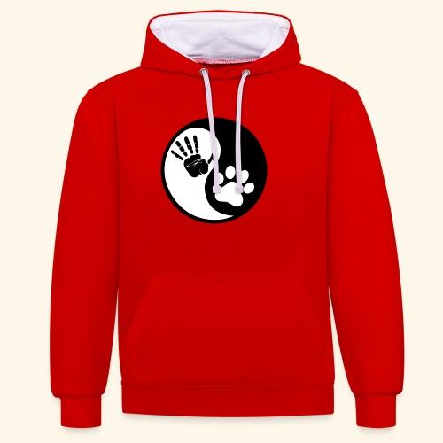 Hunde Yin Yang T-Shirt - Kontrast-Hoodie