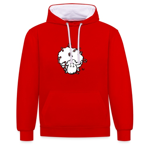 Candy Cane Sheep - Contrast Colour Hoodie