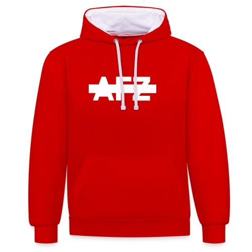AFZ Logo Teaser - Kontrast-Hoodie