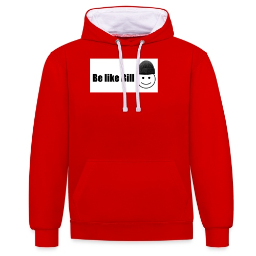 be like bill - Contrast Colour Hoodie