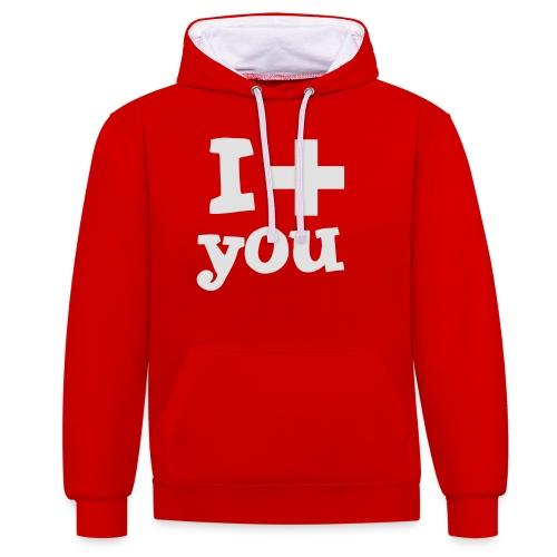 i love you - Kontrast-Hoodie
