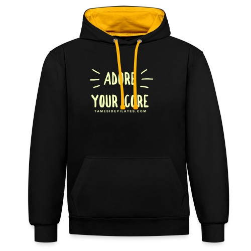 Adore Your Core - Contrast Colour Hoodie