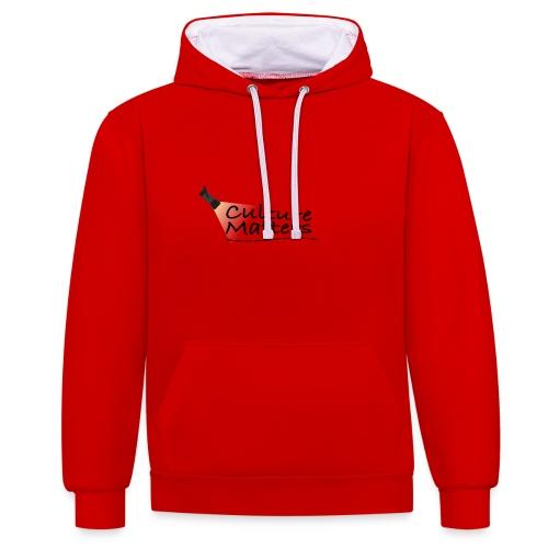 Eenzijdige bedrukking - Contrast hoodie