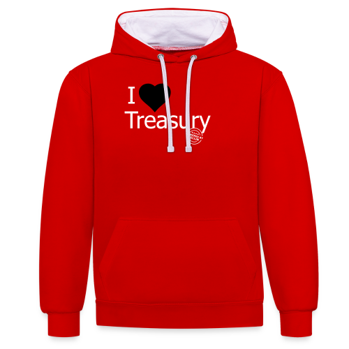 I LOVE TREASURY - Contrast Colour Hoodie
