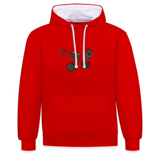 Music - Contrast Colour Hoodie