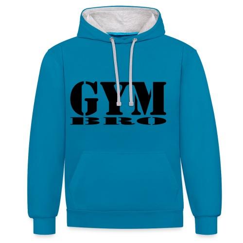 gym bro - Kontrast-Hoodie