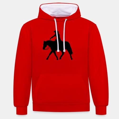 Ranch Riding extendet Trot - Kontrast-Hoodie
