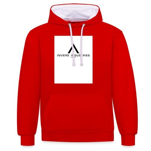 Invers Industries Full White - Contrast Colour Hoodie