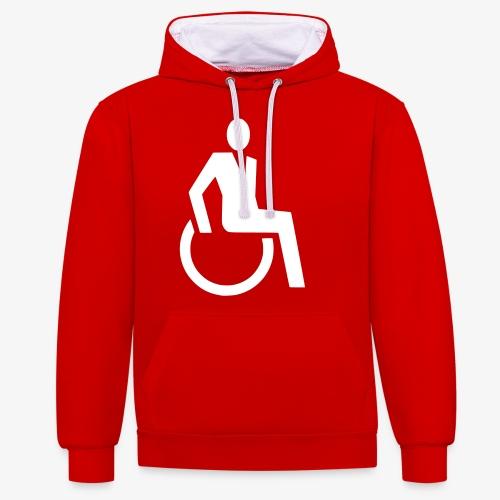 Sjieke rolstoel gebruiker symbool - Contrast hoodie