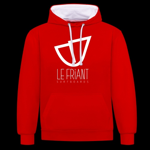 Logo Blanc Le Friant Surfboards - Sweat-shirt contraste