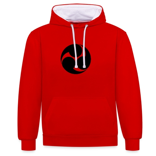 Kobayakawa Mon Japanese clan black - Contrast Colour Hoodie