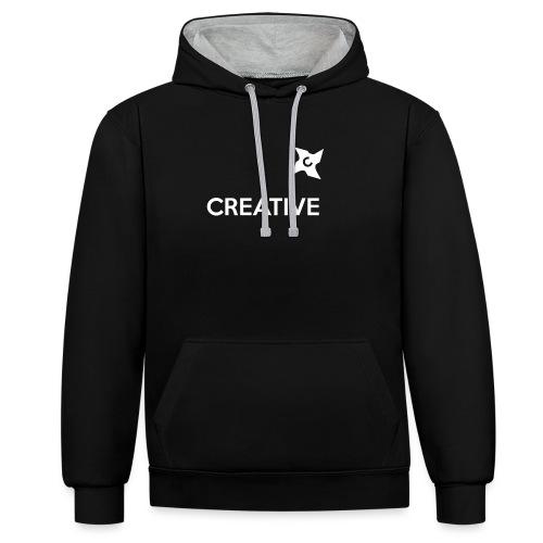 Creative simple black and white shirt - Kontrast-hættetrøje