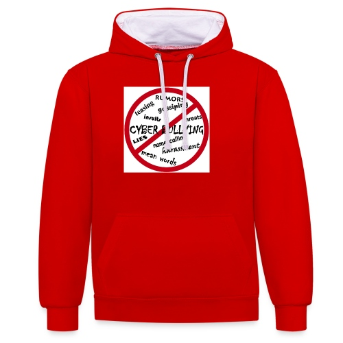 anti-bullying armour - Contrast Colour Hoodie