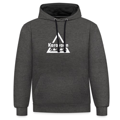 Karavaan White (High Res) - Contrast hoodie