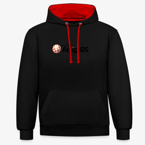 PoweredByAmigaOS Black - Contrast Colour Hoodie