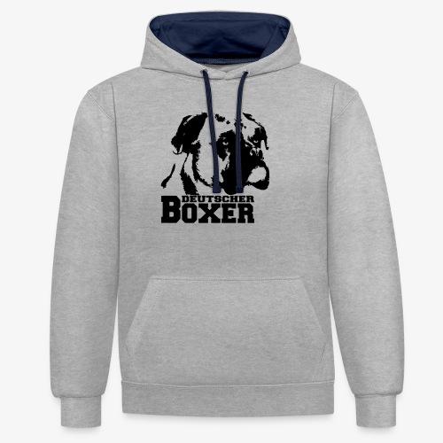 Deutscher Boxer - Kontrast-Hoodie