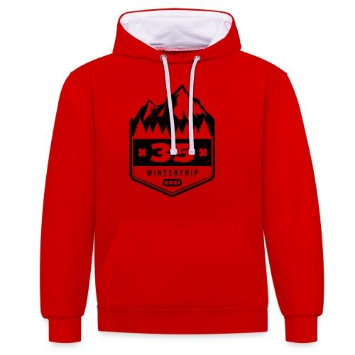 35 ✕ WINTERTRIP ✕ 2021 • BLACK - Contrast hoodie
