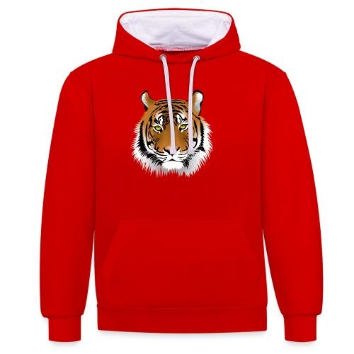 tiger numero 1 - Sudadera con capucha en contraste
