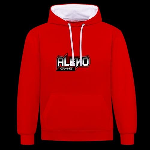 Aleko Gaming Logo text - Kontrast-Hoodie