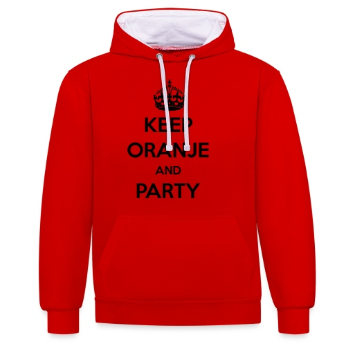 KEEP ORANJE AND PARTY - Contrast hoodie