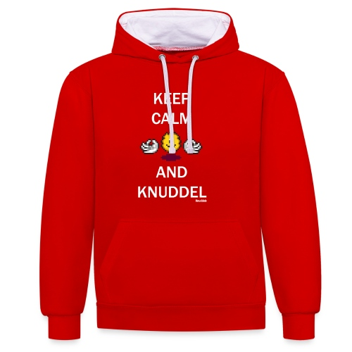 Keep Calm And Knuddel - Kontrast-Hoodie