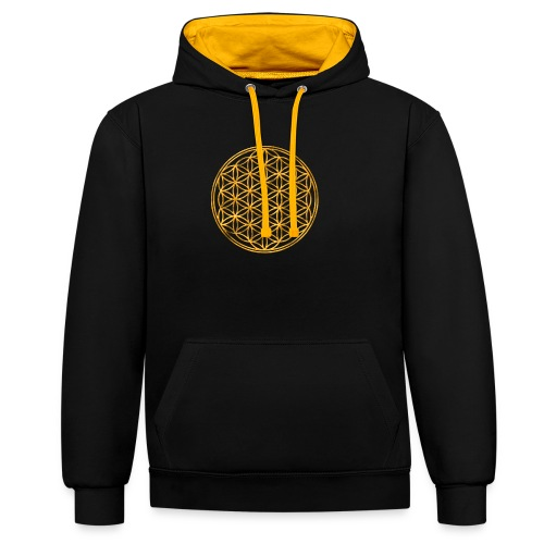 Flower of life GOLD 2 - Contrast hoodie