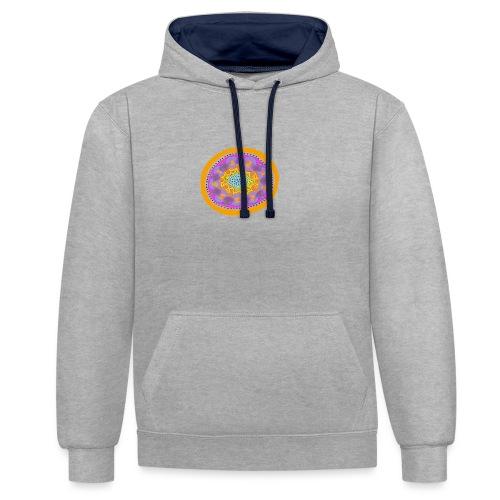 Mandala Pizza - Contrast Colour Hoodie