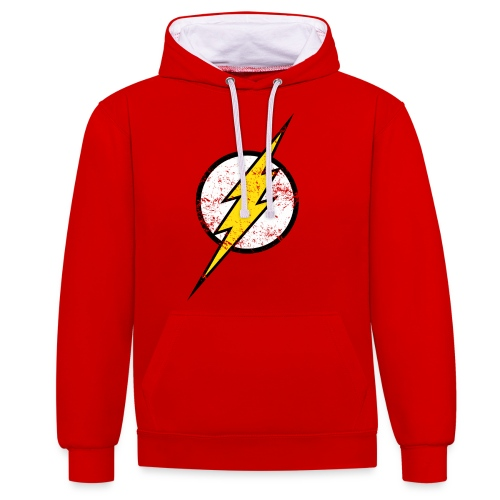 DC Comics Justice League Flash Logo - Kontrast-Hoodie