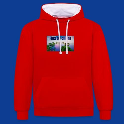 Flux b4 client Shirt - Contrast Colour Hoodie