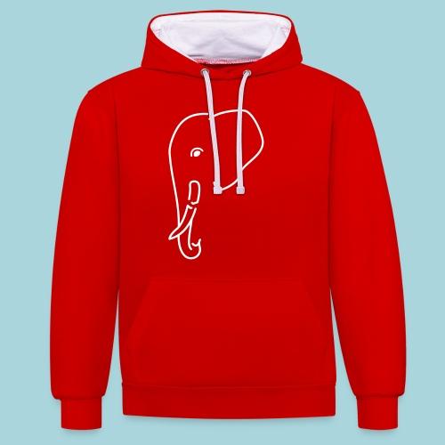 Olifant - gebroken slagtand - Contrast hoodie