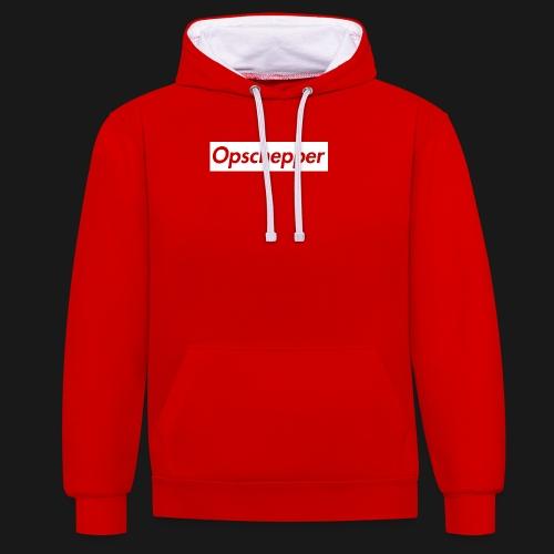 Opschepper Classic Wit - Contrast hoodie