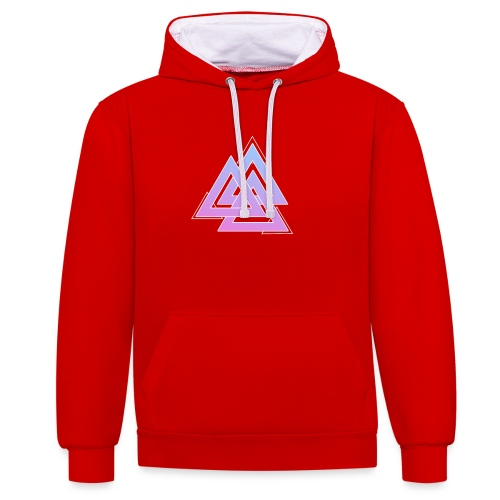 Triangles - Contrast Colour Hoodie