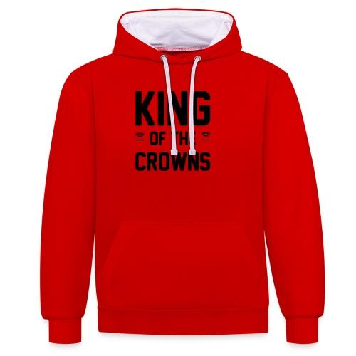 King of the crowns - Contrast hoodie